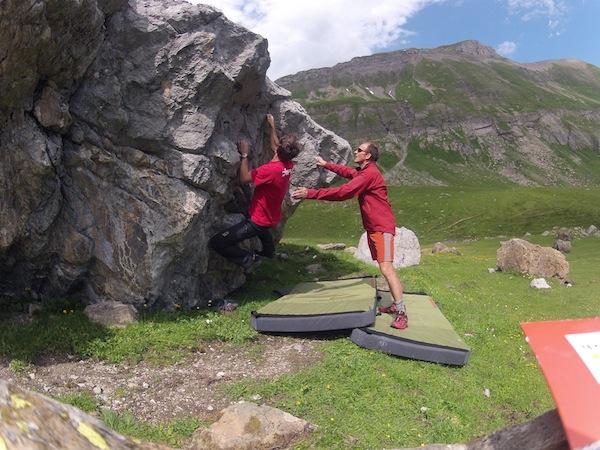 Klettersteig Engstligenalp : Bouldern auf der engstligenalp alpinschule adelboden